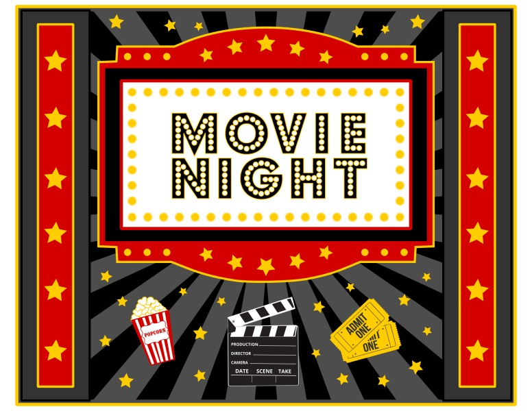 Movie night template demirediffusion free movie night party printables by printabelle catch my party maxwellsz