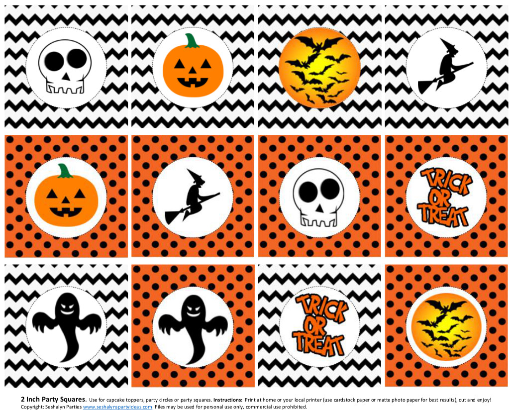 FREE Halloween Printables From Seshalyn Parties Catch My