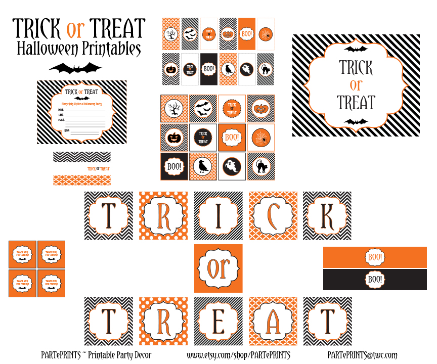 photo regarding Free Halloween Printable named Free of charge Halloween Printables towards PARTePRINTS Capture My Occasion