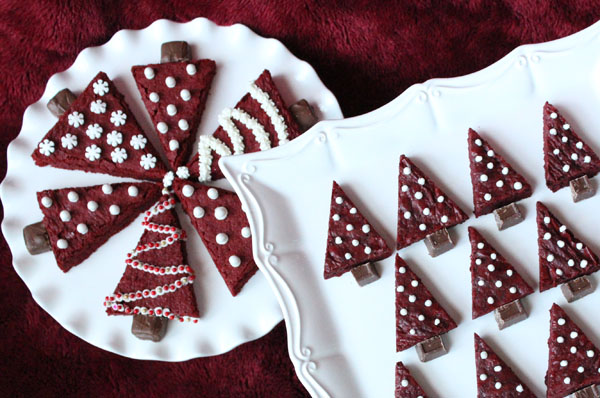 Red Velvet Christmas Tree Brownie Recipe | Catch My Party