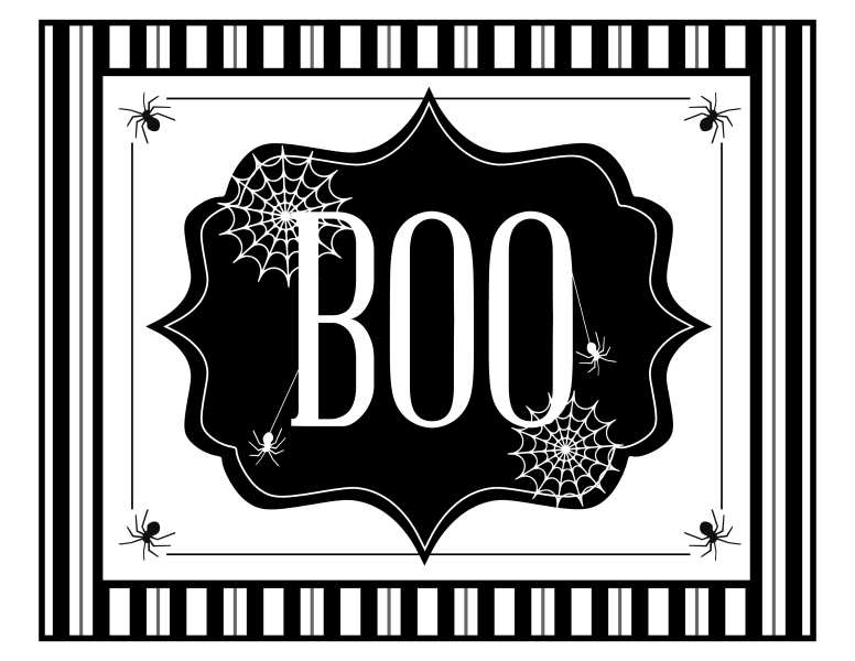 Free You've Been Booed Halloween Printable Set From Printabelle