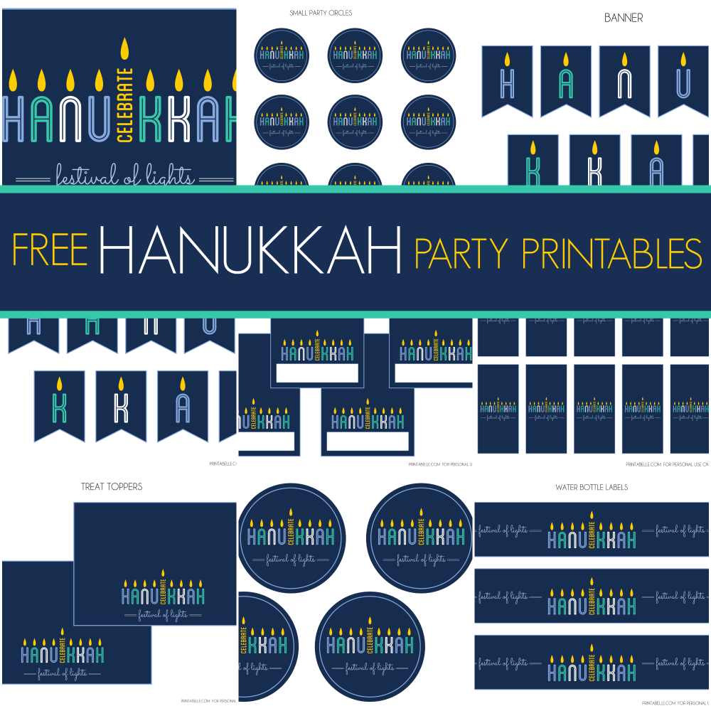 ... Hanukkah printables Michelle from Printabelle designed exclusively for