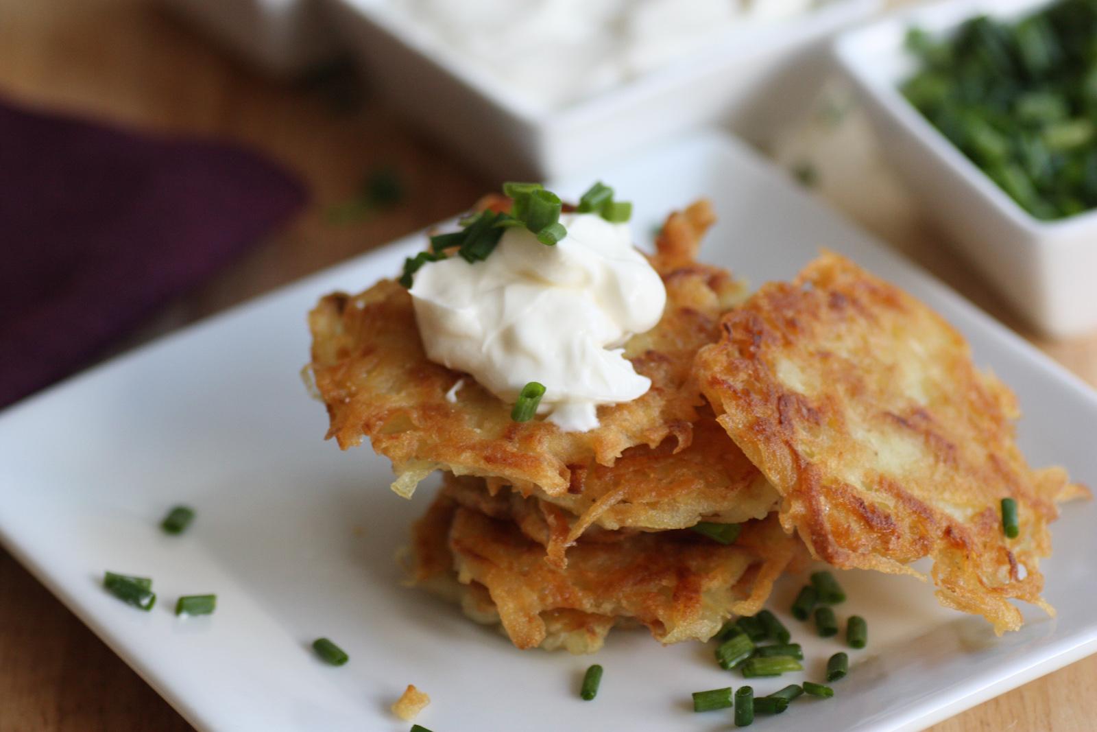 POTATO PANCAKE RECIPE (LATKES) Makes about 16 potato pancakes Total ...