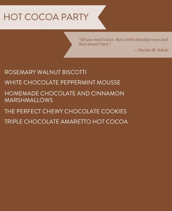Hot Cocoa Party Recipe Ideas
