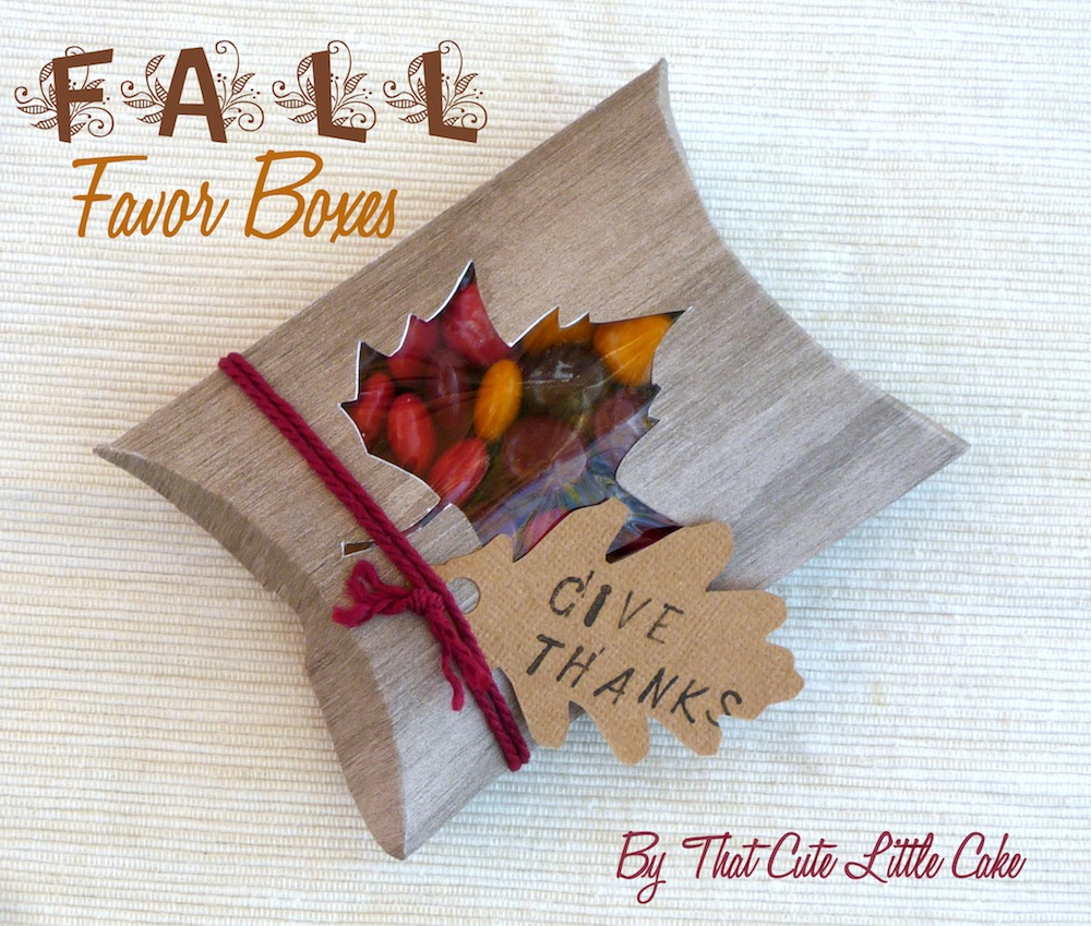 Thanksgiving Favor Box DIY | Catch My Party