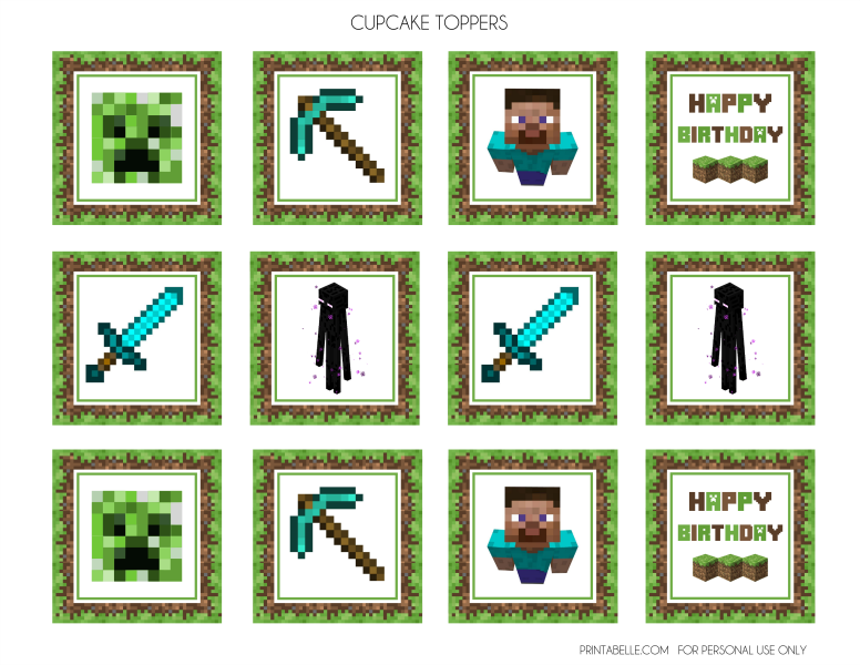 photograph regarding Minecraft Birthday Printable named Down load These kinds of Amazing Cost-free Minecraft Printables! Capture My