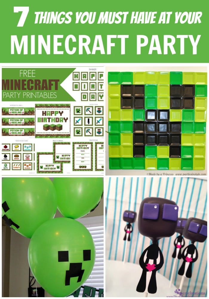 Delicate image throughout minecraft party ideas printable