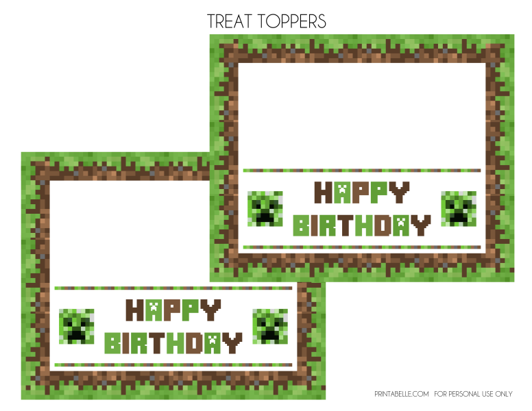 image regarding Minecraft Birthday Banner Free Printable called Down load Those people Wonderful Totally free Minecraft Printables! Capture My