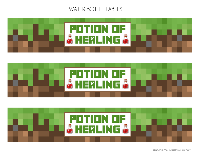 Clever image regarding minecraft labels printable