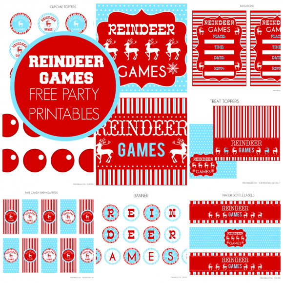 Free printables kids Christmas party