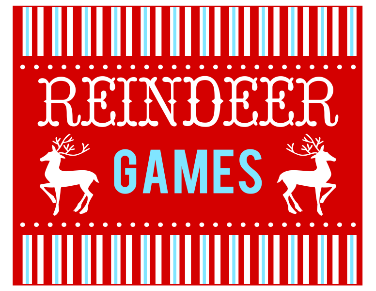 free reindeer games party printables from printabelle