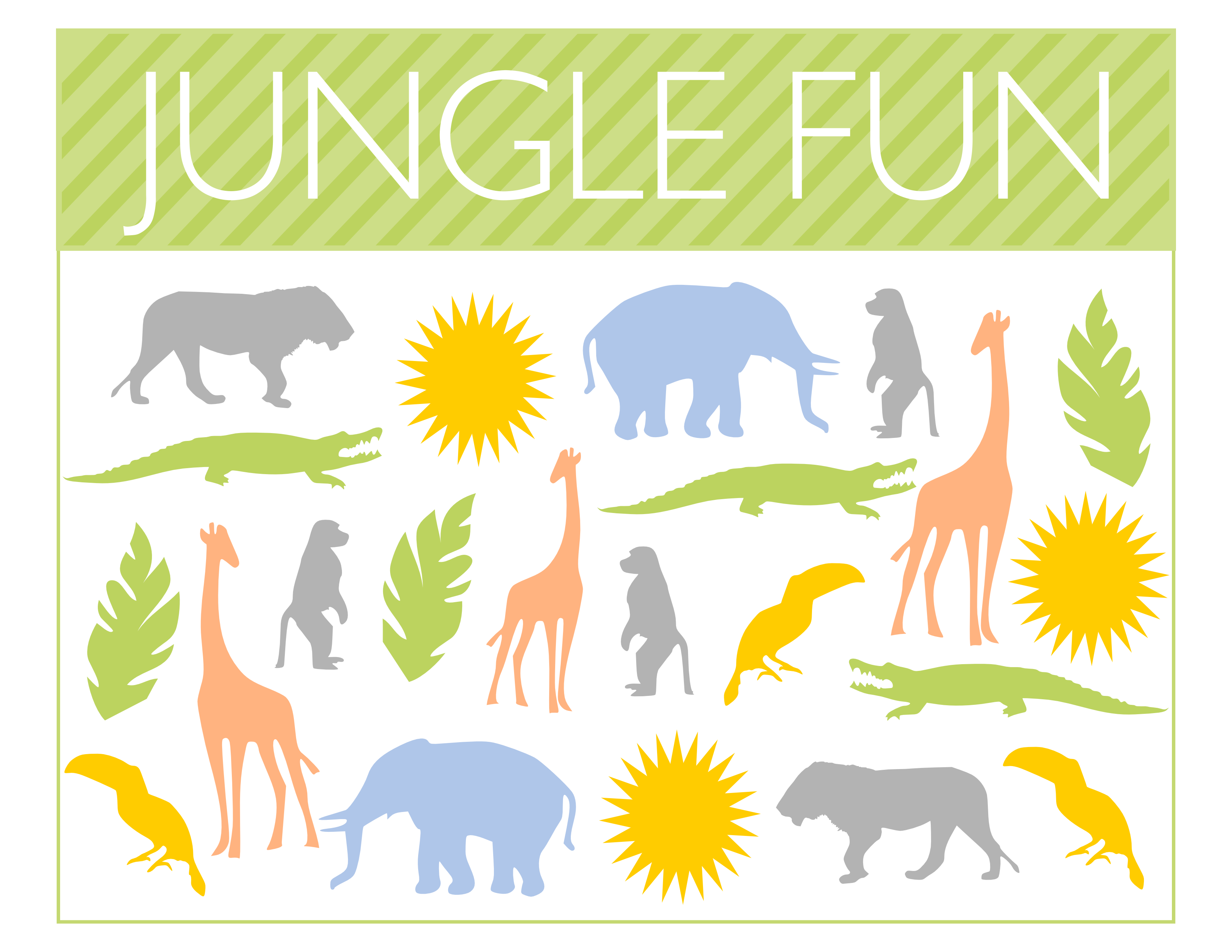 picture about Printable Jungle Animals known as No cost Jungle Occasion Printables in opposition to Printabelle Capture My Bash