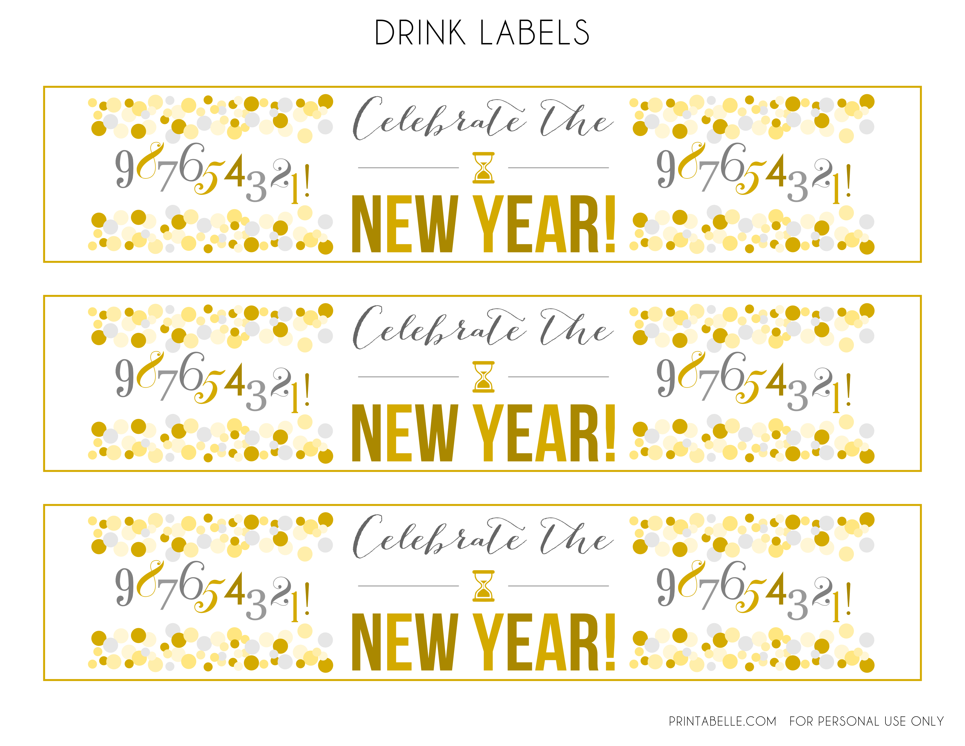 free new years party printables catch my party