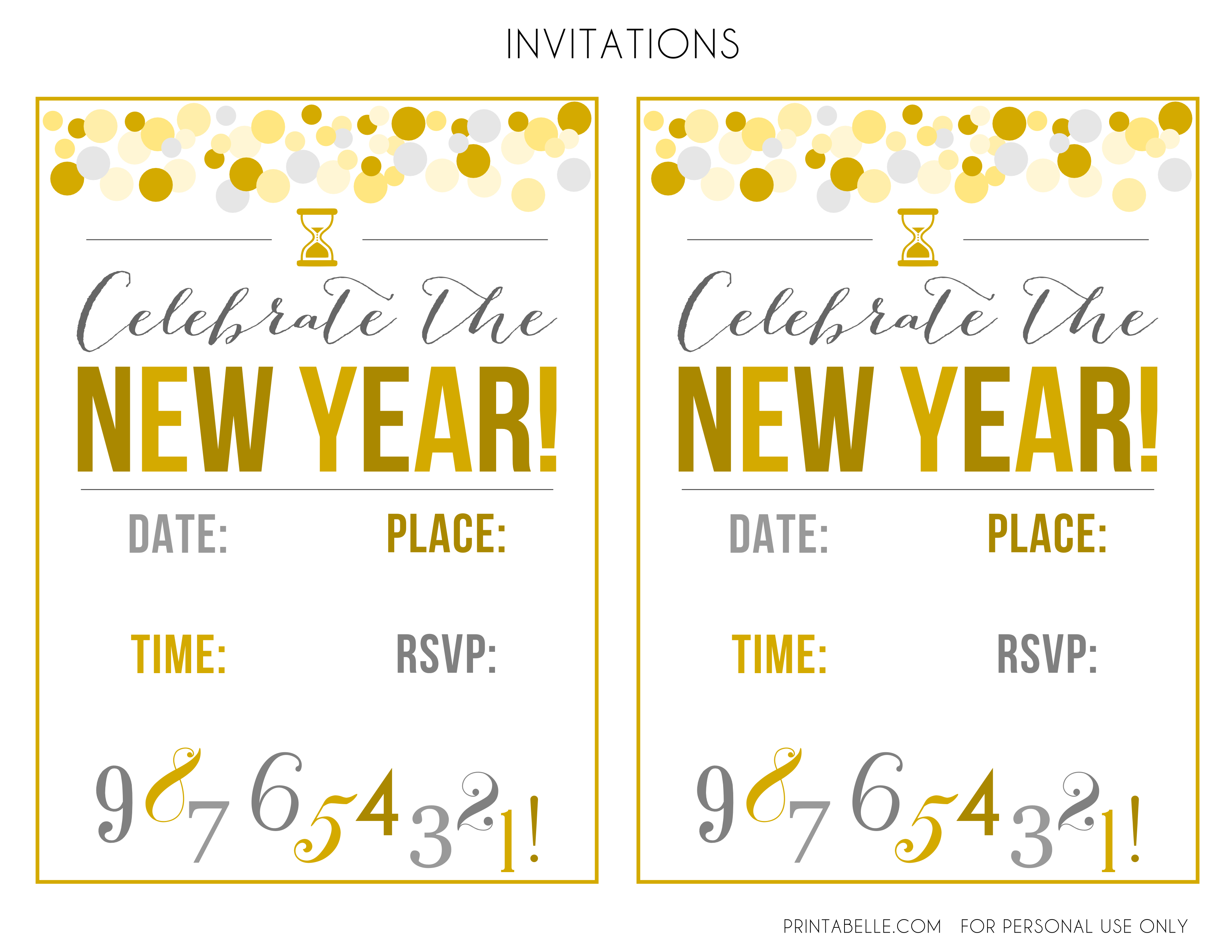 Free New Years Party Printables – Free New Years Eve Party Invitations