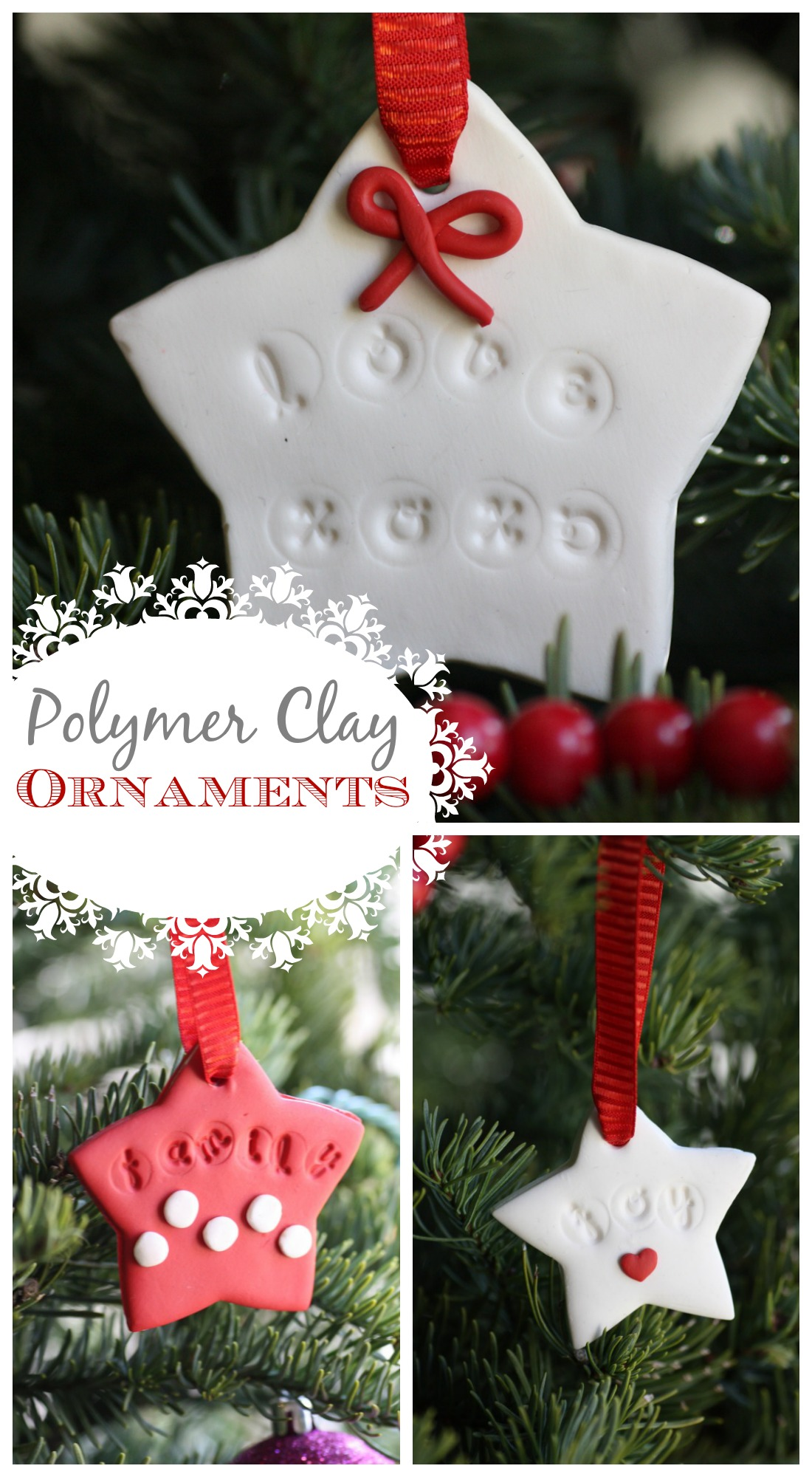polymer clay ornament diy pin it - Homemade Mickey Mouse Christmas Decorations
