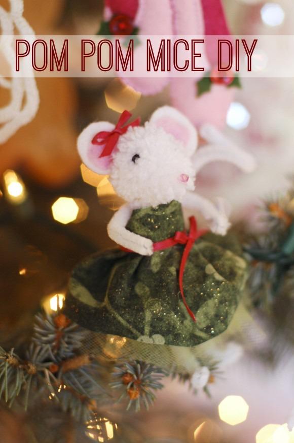 Pom Pom Mice Craft DIY | Catch My Party