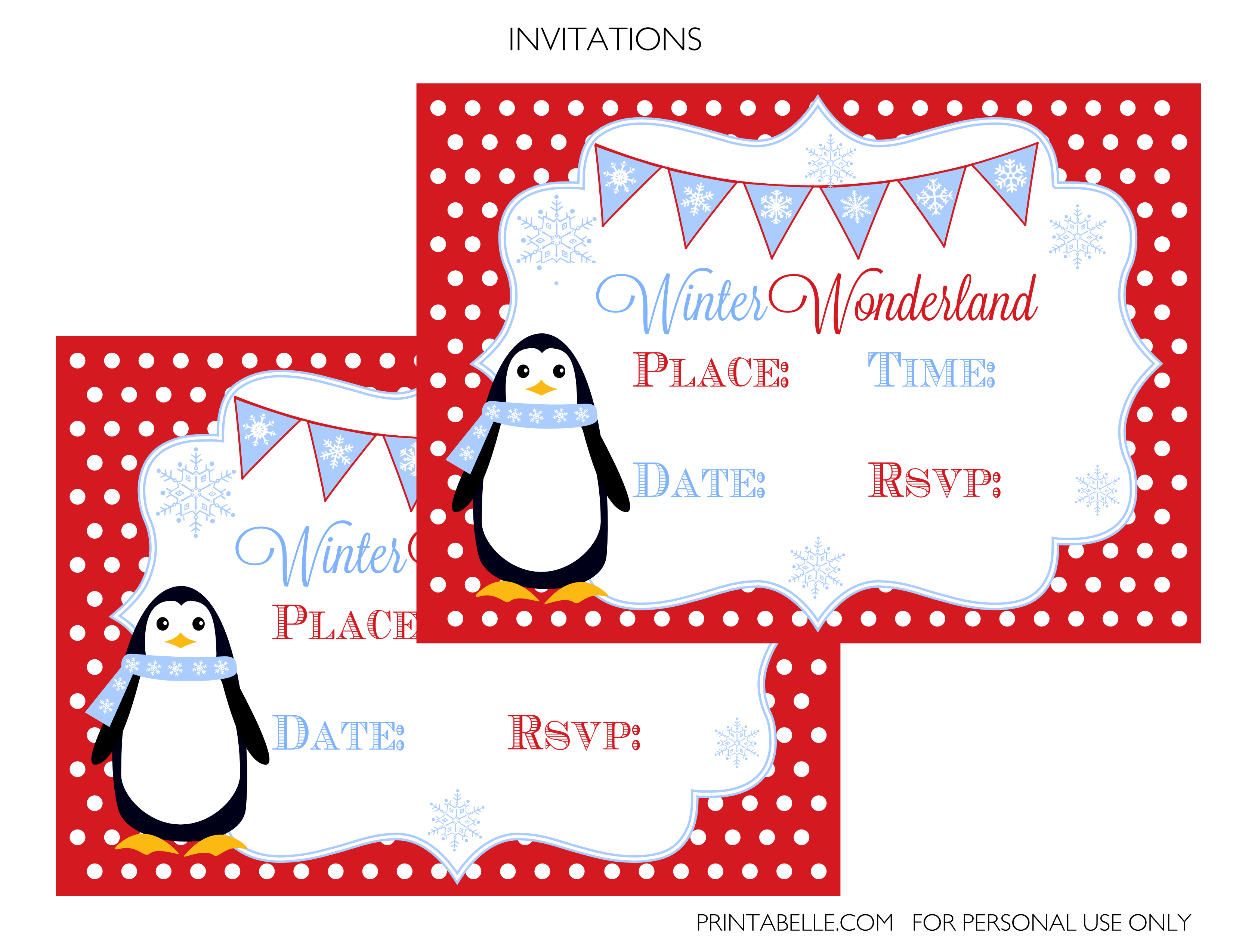 winter wonderland party printables catch my party winter wonderland party printables