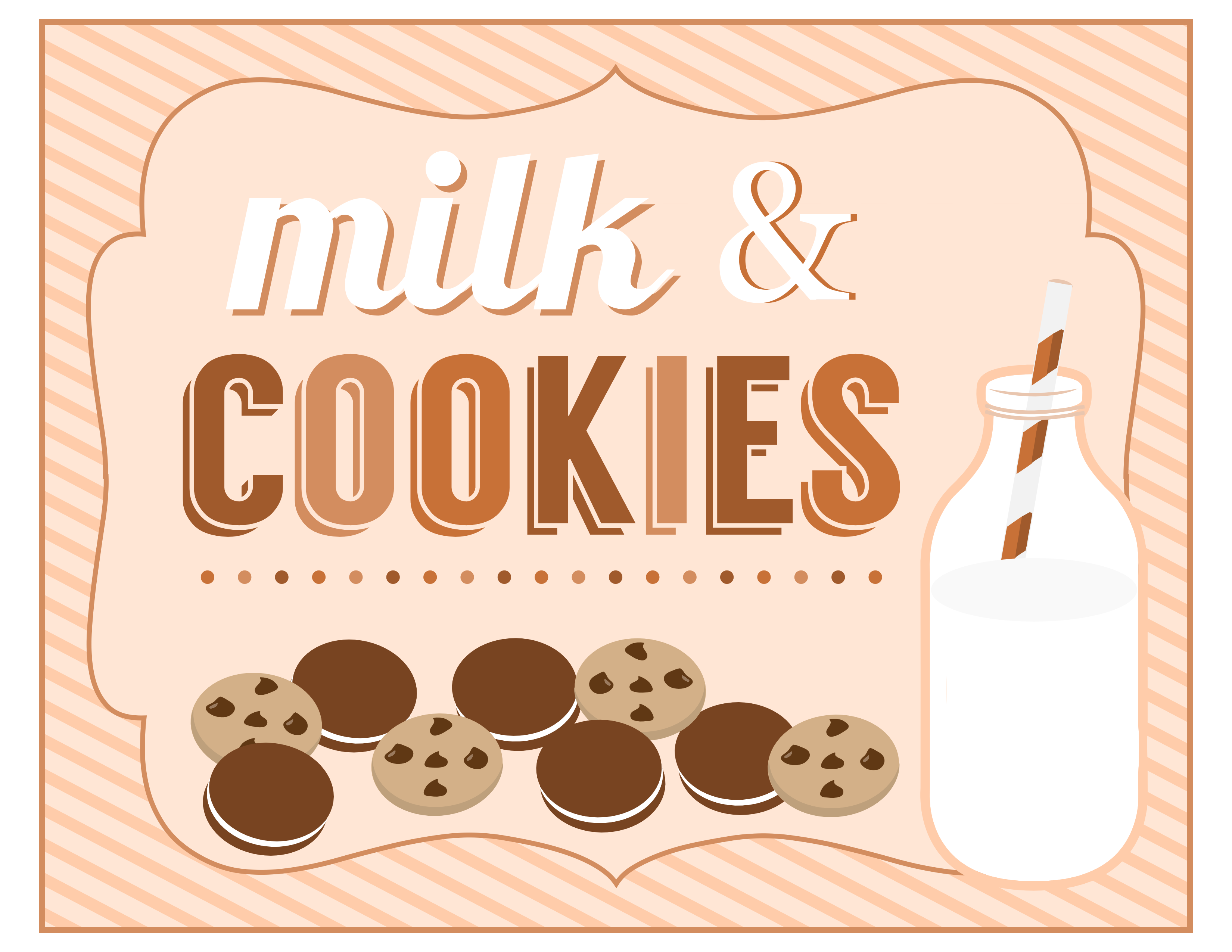 photo about Printable Cookies referred to as Totally free Cookies and Milk Bash Printables towards Printabelle