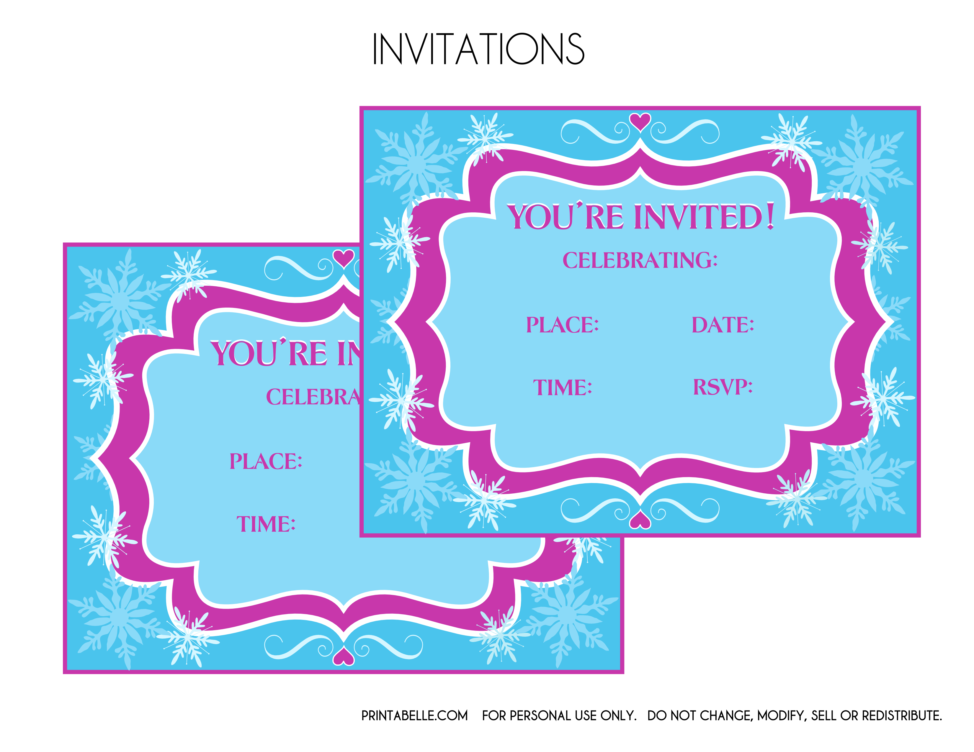 Free printables -- Frozen party decorations Free printables -- Frozen