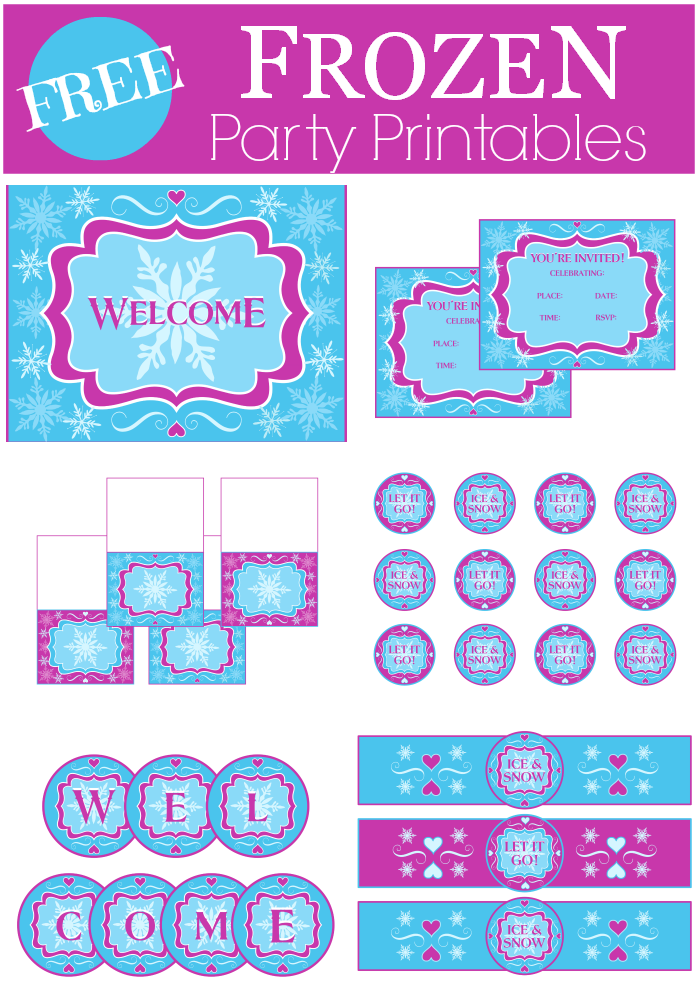 graphic about Frozen Party Food Labels Free Printable known as Totally free Frozen Bash Printables Capture My Occasion