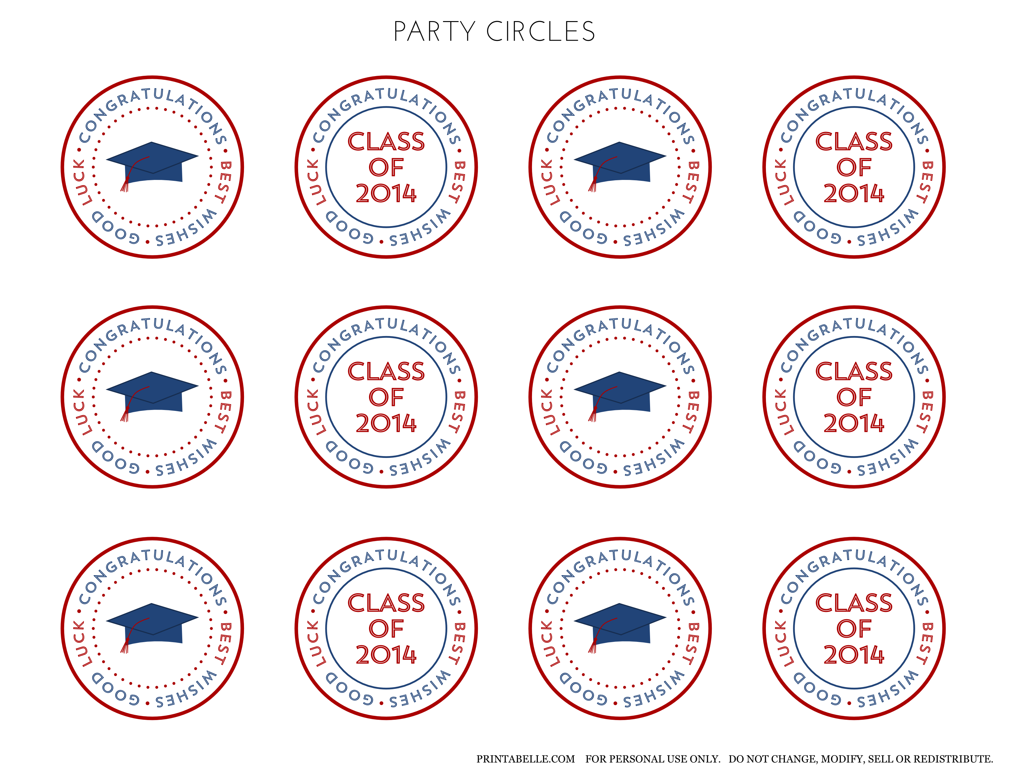 Free 2014 Graduation Party Printables From Printabelle