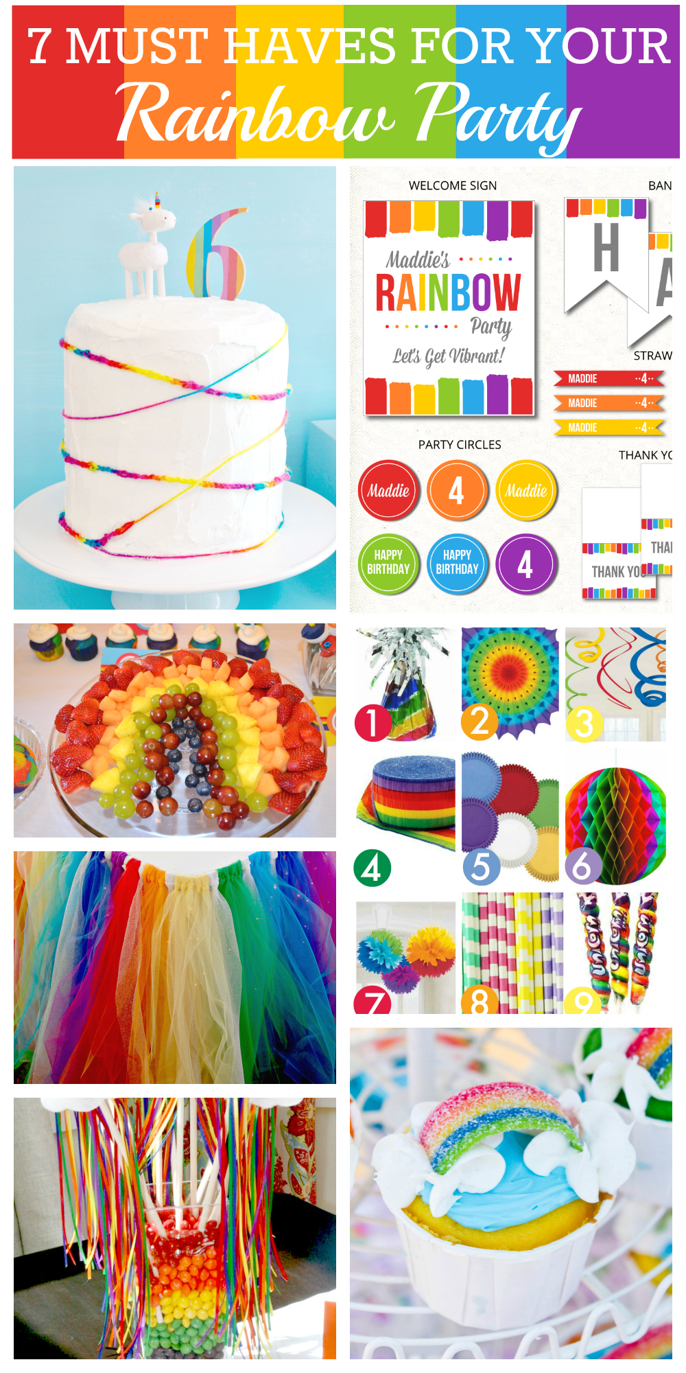 7 Things You Must Have at Your Rainbow Party | Catch My Party