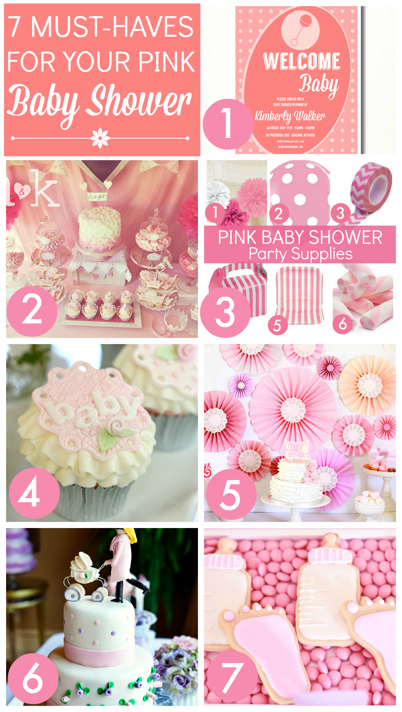 pink baby shower ideas  catch my party, Baby shower