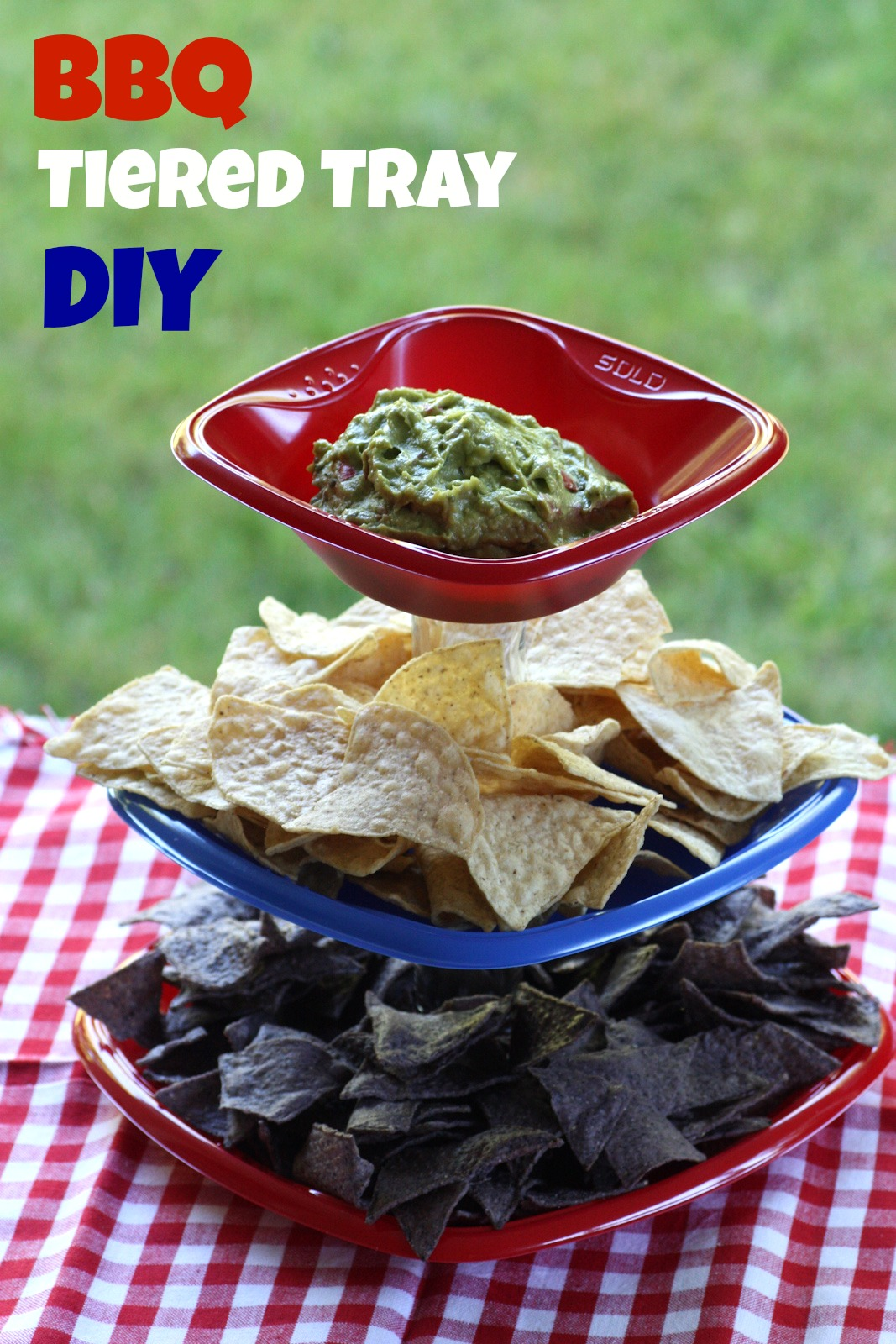 Summer Bbq Tiered Serving Tray Diy Catch My Party