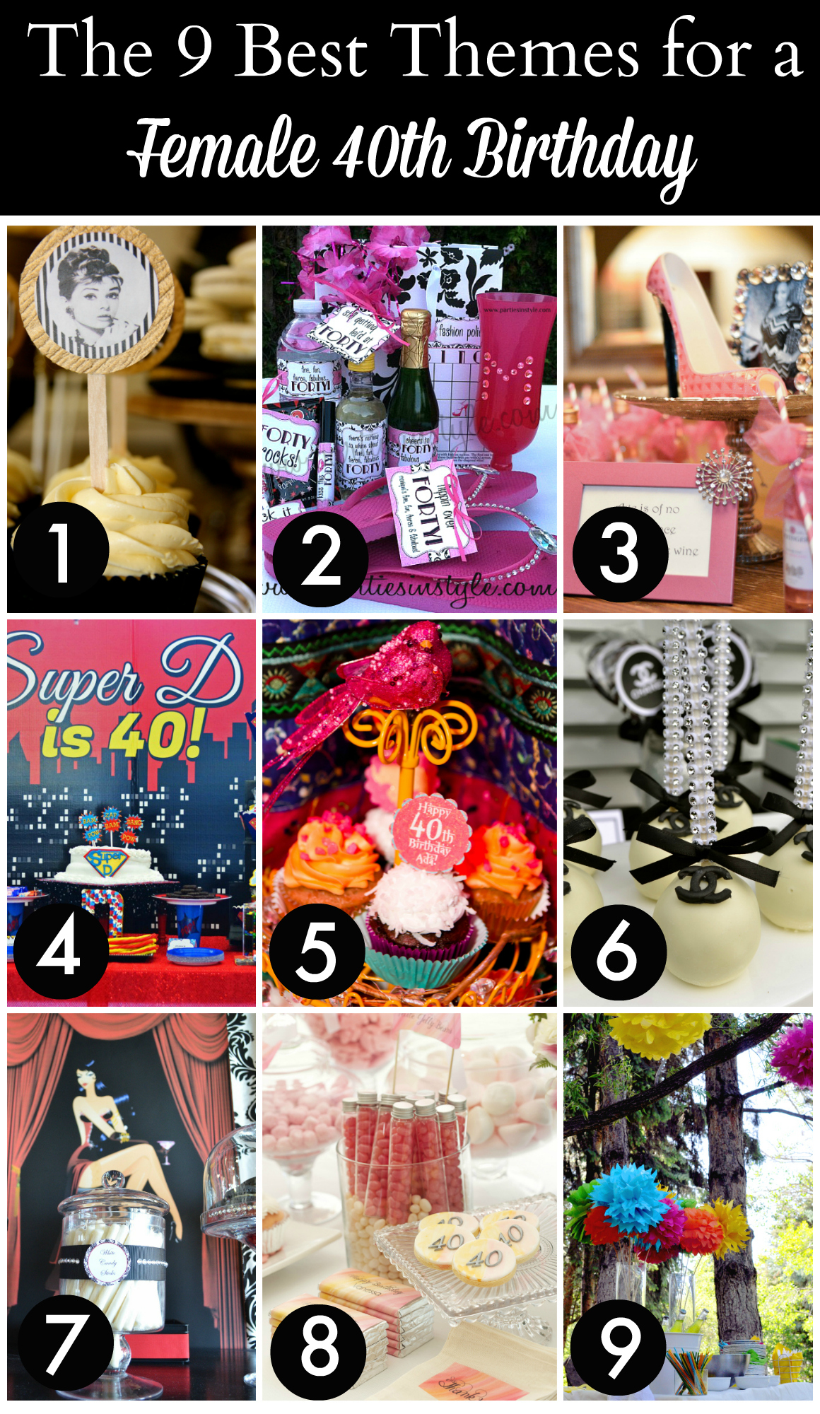 9 best 40th birthday themes for women catch my party for 40th birthday decoration