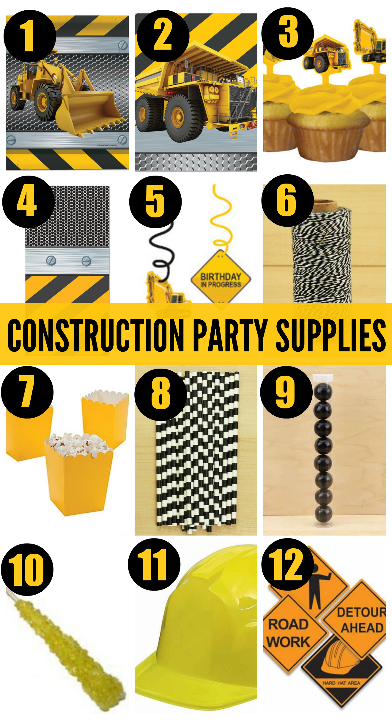 Construction Birthday Party Decorations 7 Must Haves For Your Construction Birthday Party Catch My Party