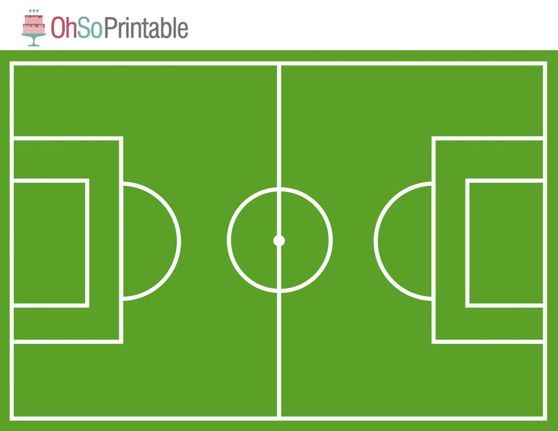 Influential image regarding soccer field printable