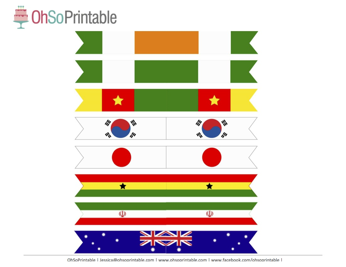 Free World Cup Soccer Printables from OhSoPrintable ...