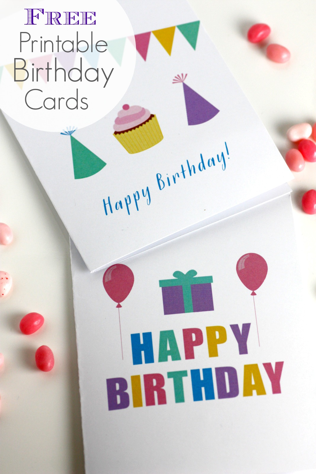 Free Printable Birthday Cards Perfect For Kids Adults And Relatives Blank Inside Pin It