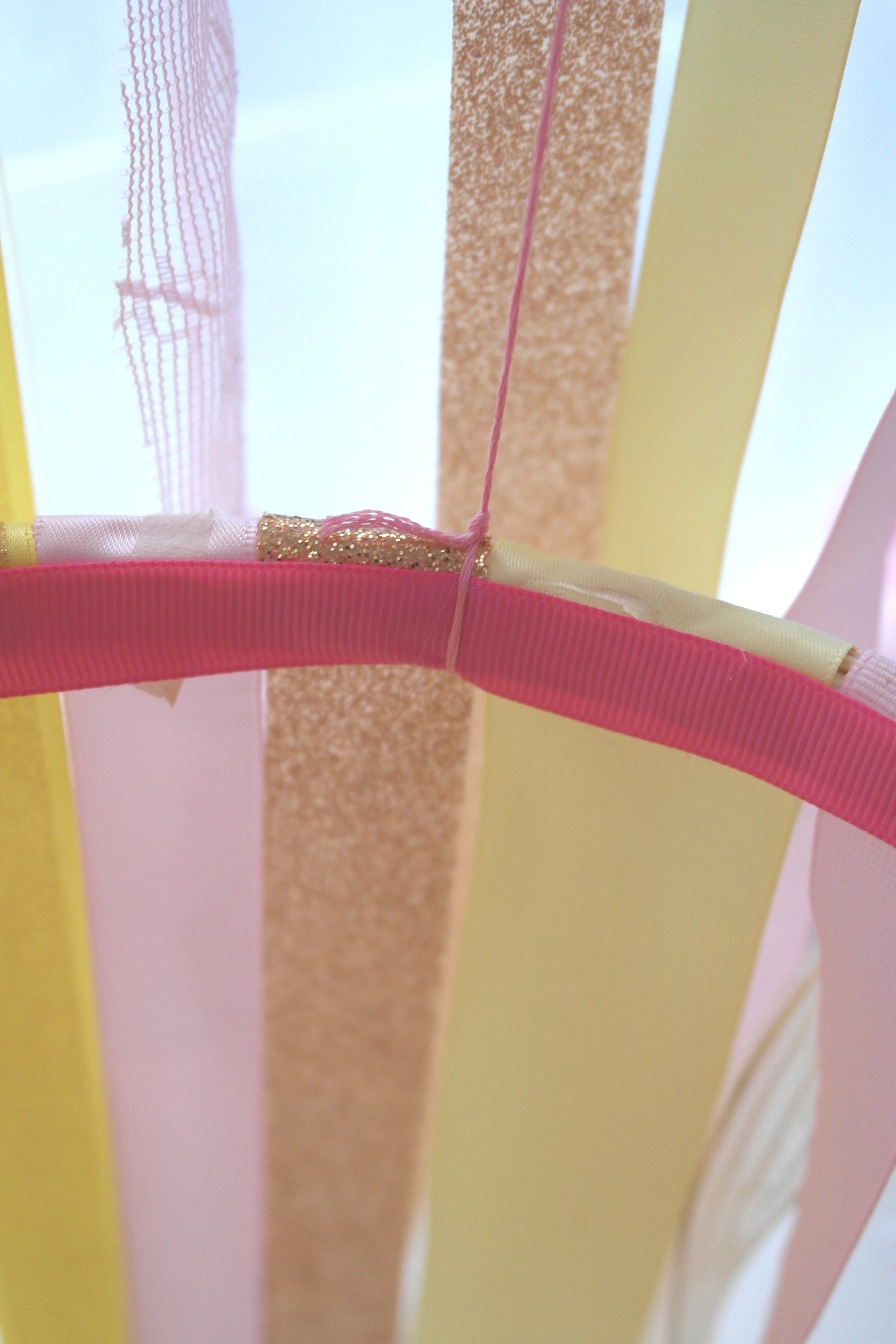 Feminine Ribbon Chandelier DIY