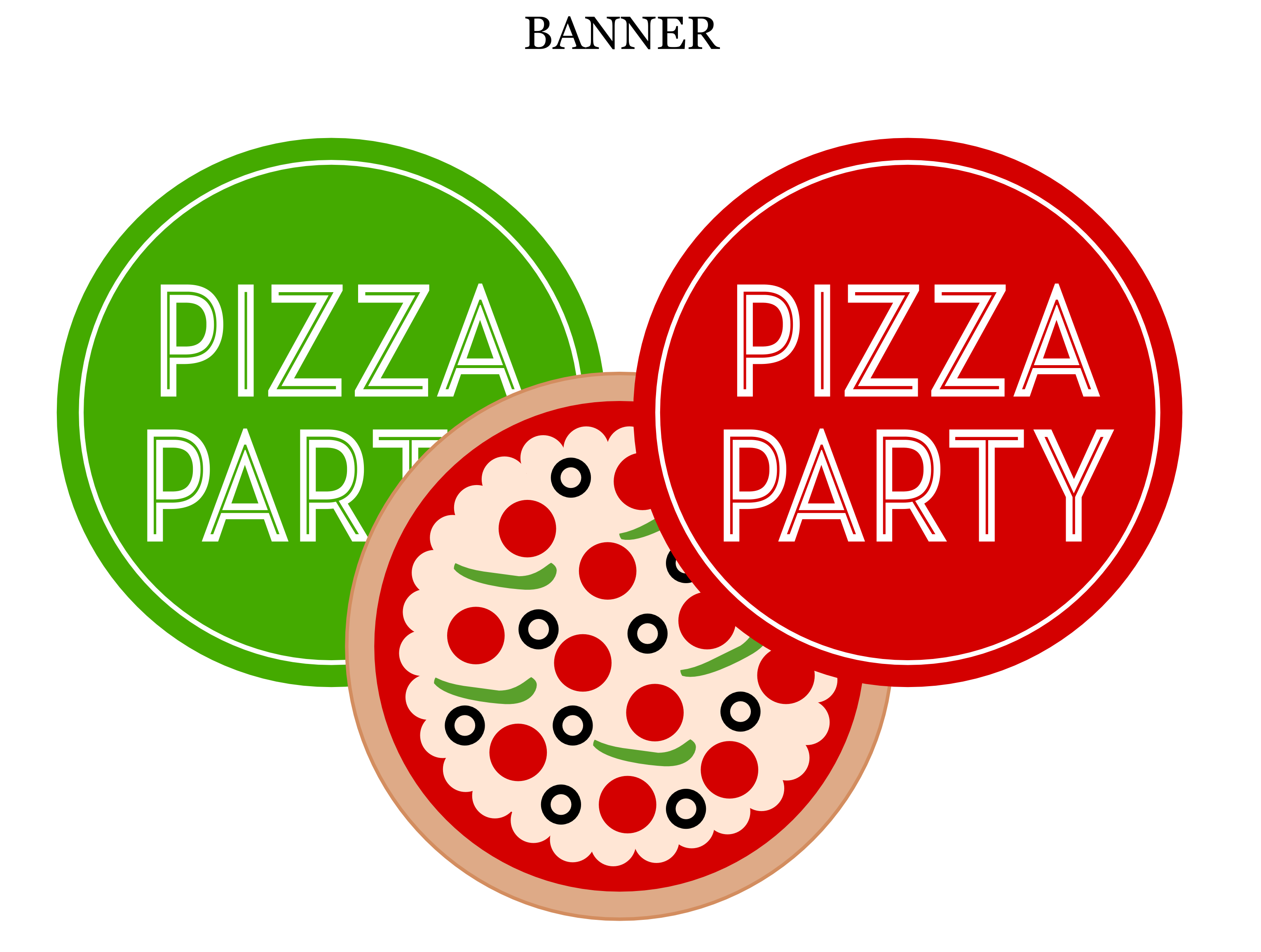 Free Pizza Party Printables from Printabelle | Catch My Party: catchmyparty.com/blog/free-pizza-party-printables-from-printabelle