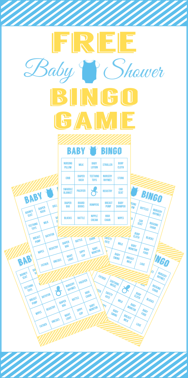 free baby shower bingo printable cards for a boy baby shower catch