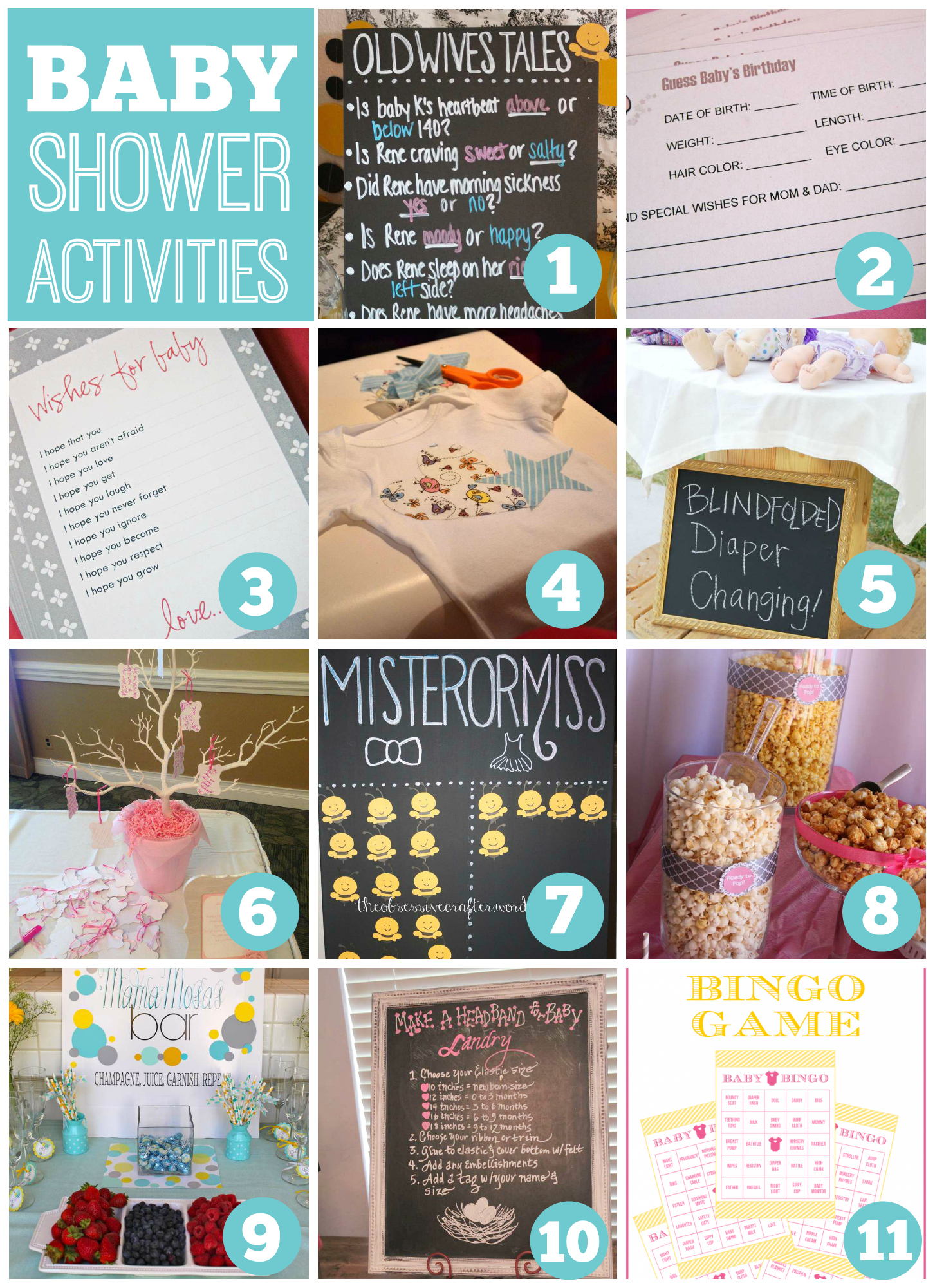 baby shower activities catch my party