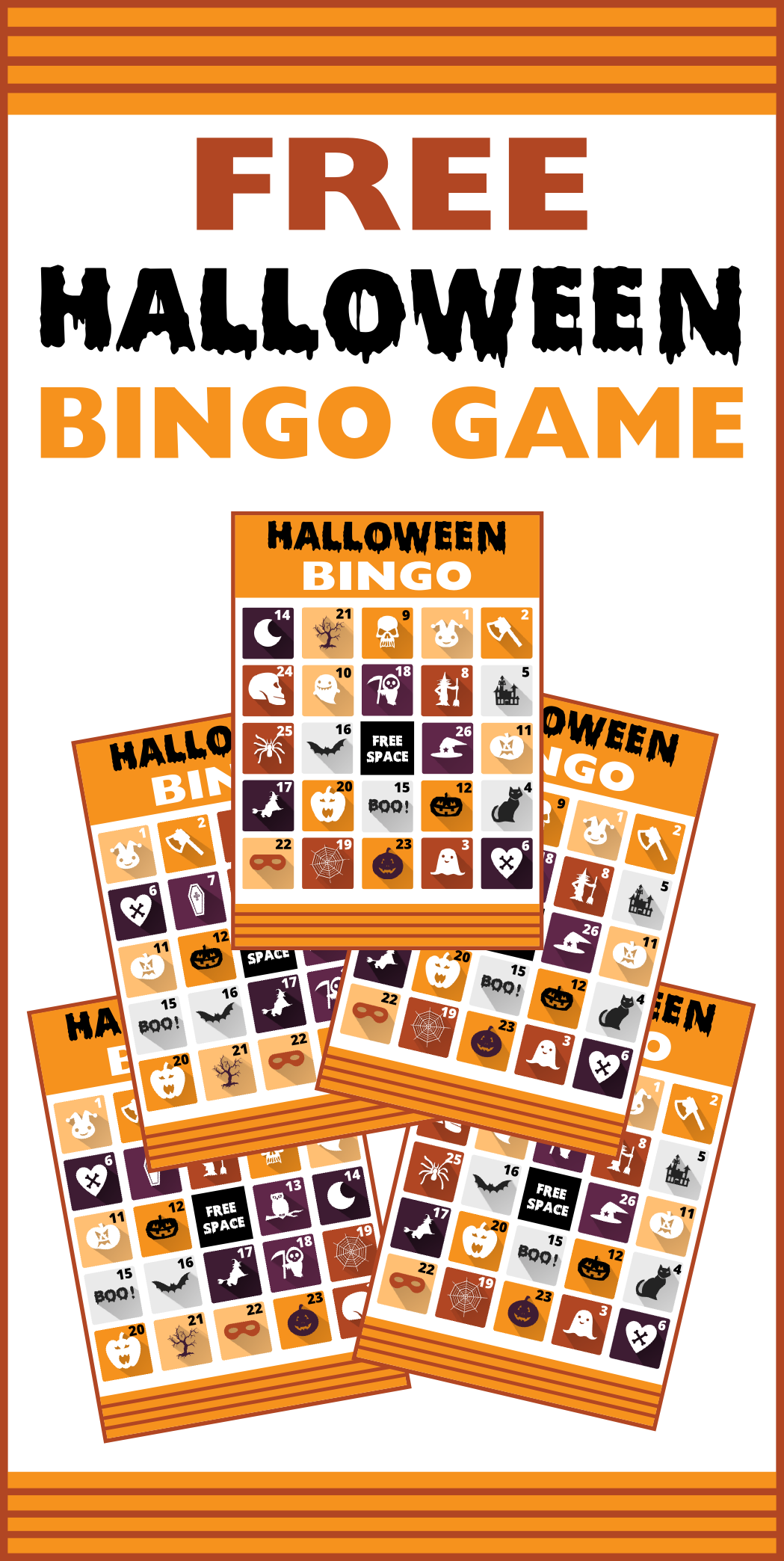 Selective image with halloween bingo free printable