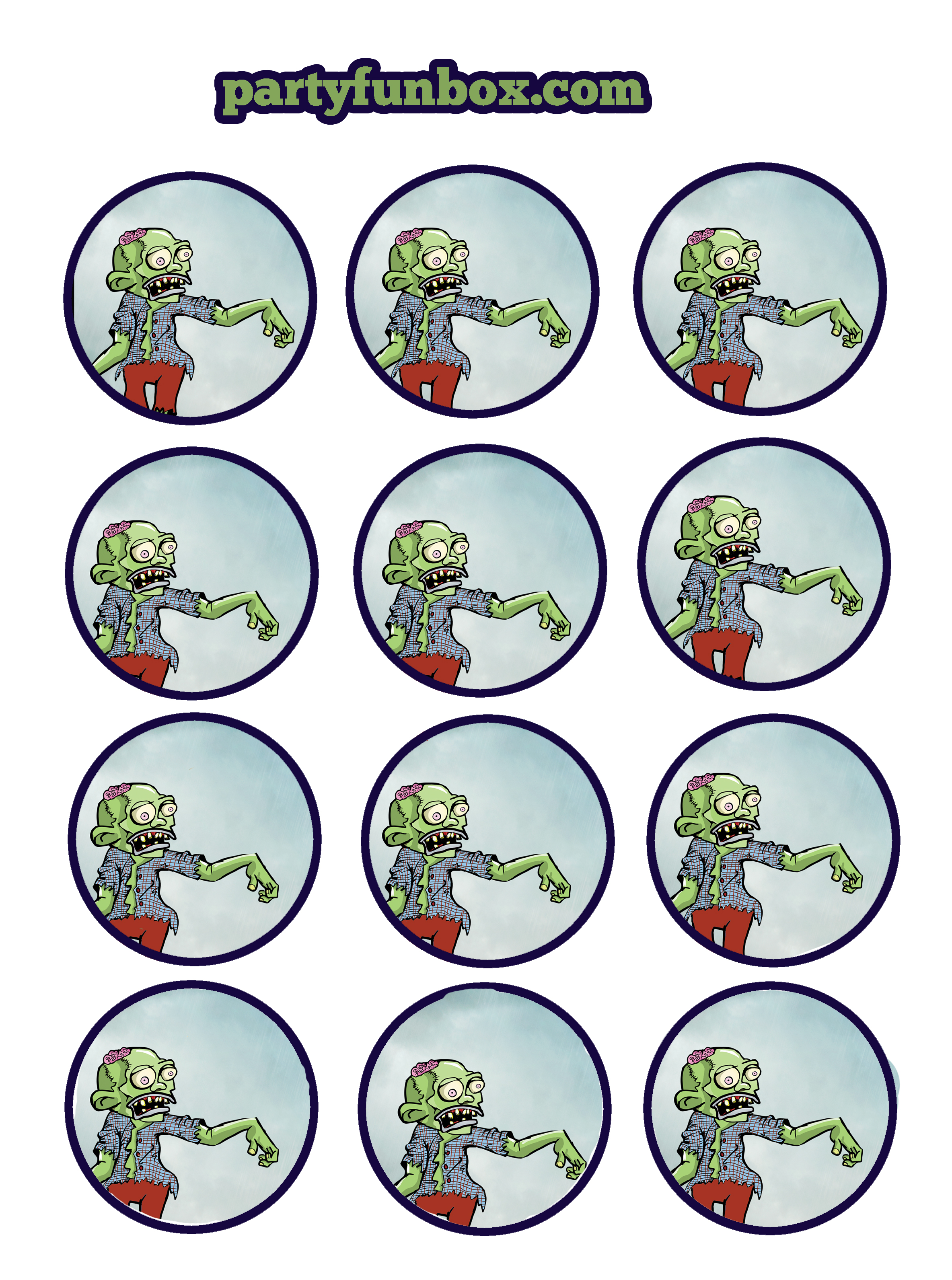 Free Zombie Printables from Party Fun Box | Catch My Party