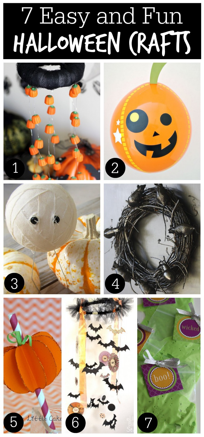 7 Easy Halloween Crafts | Catch My Party