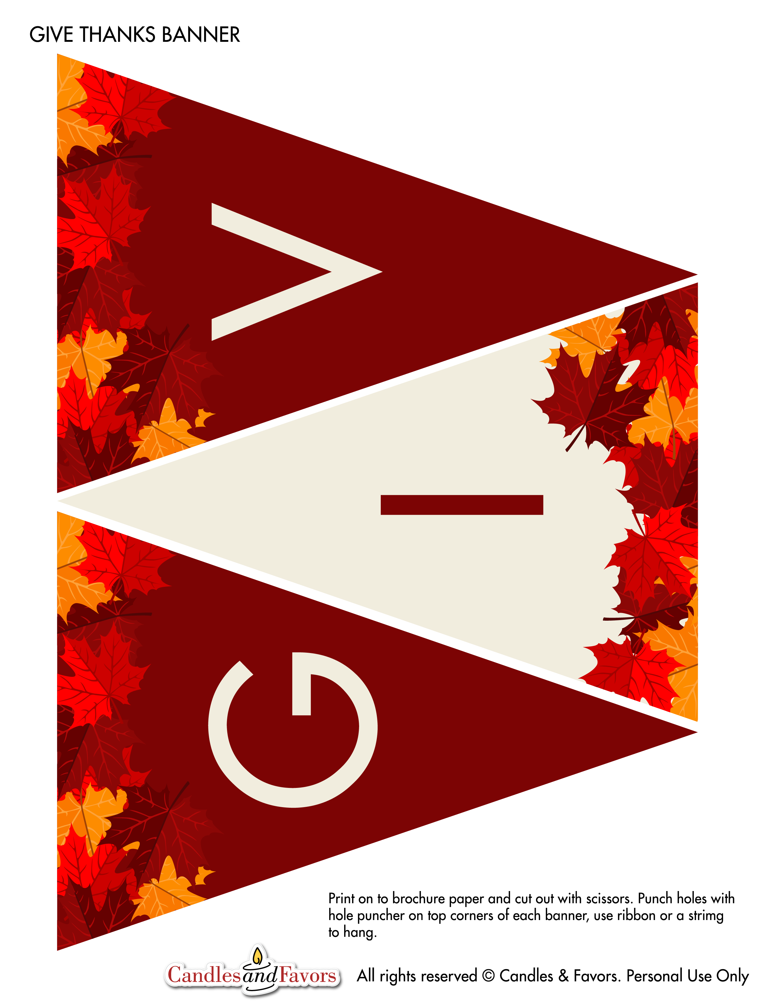 This is a photo of Persnickety Give Thanks Banner Printable