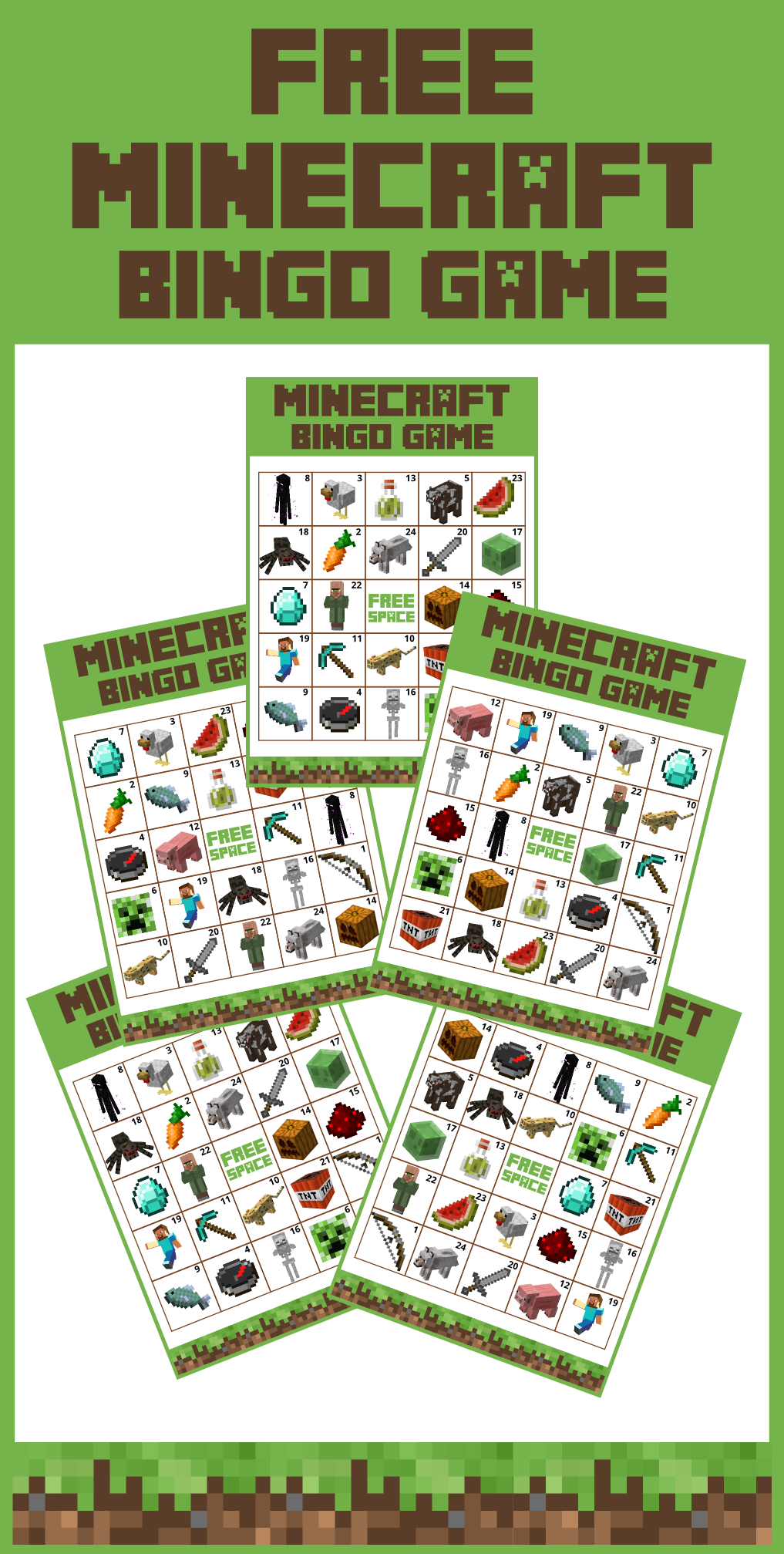 This is a picture of Dashing Minecraft Free Printable