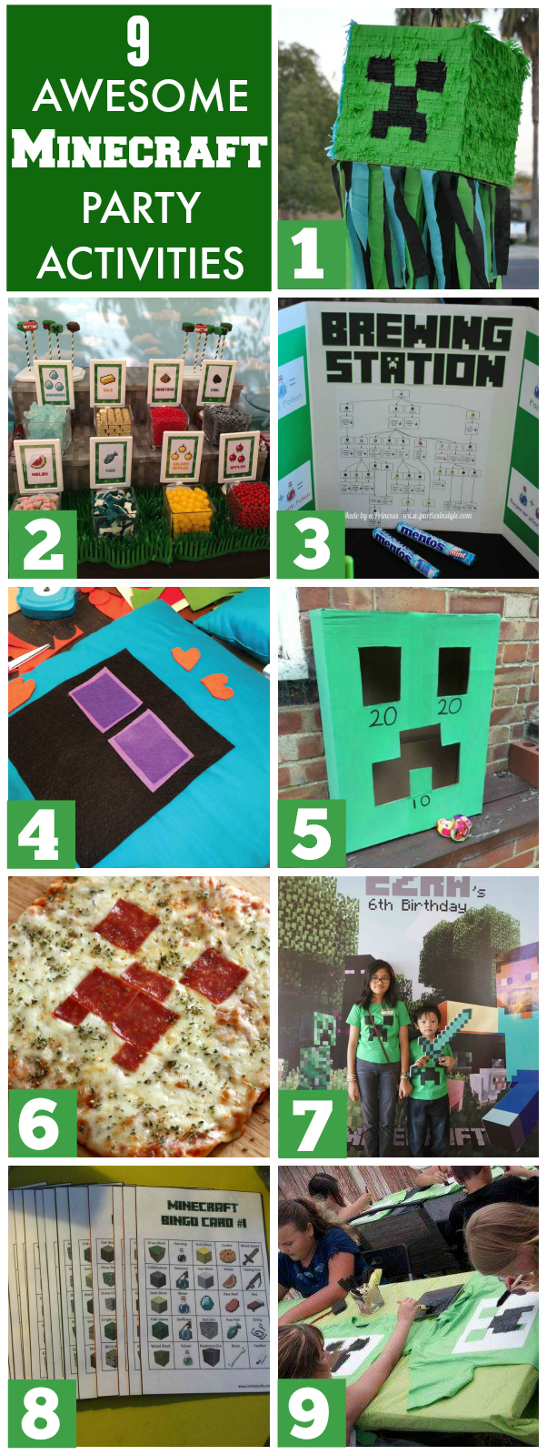 Stupendous 9 Awesome Minecraft Party Activities Catch My Party Ocoug Best Dining Table And Chair Ideas Images Ocougorg