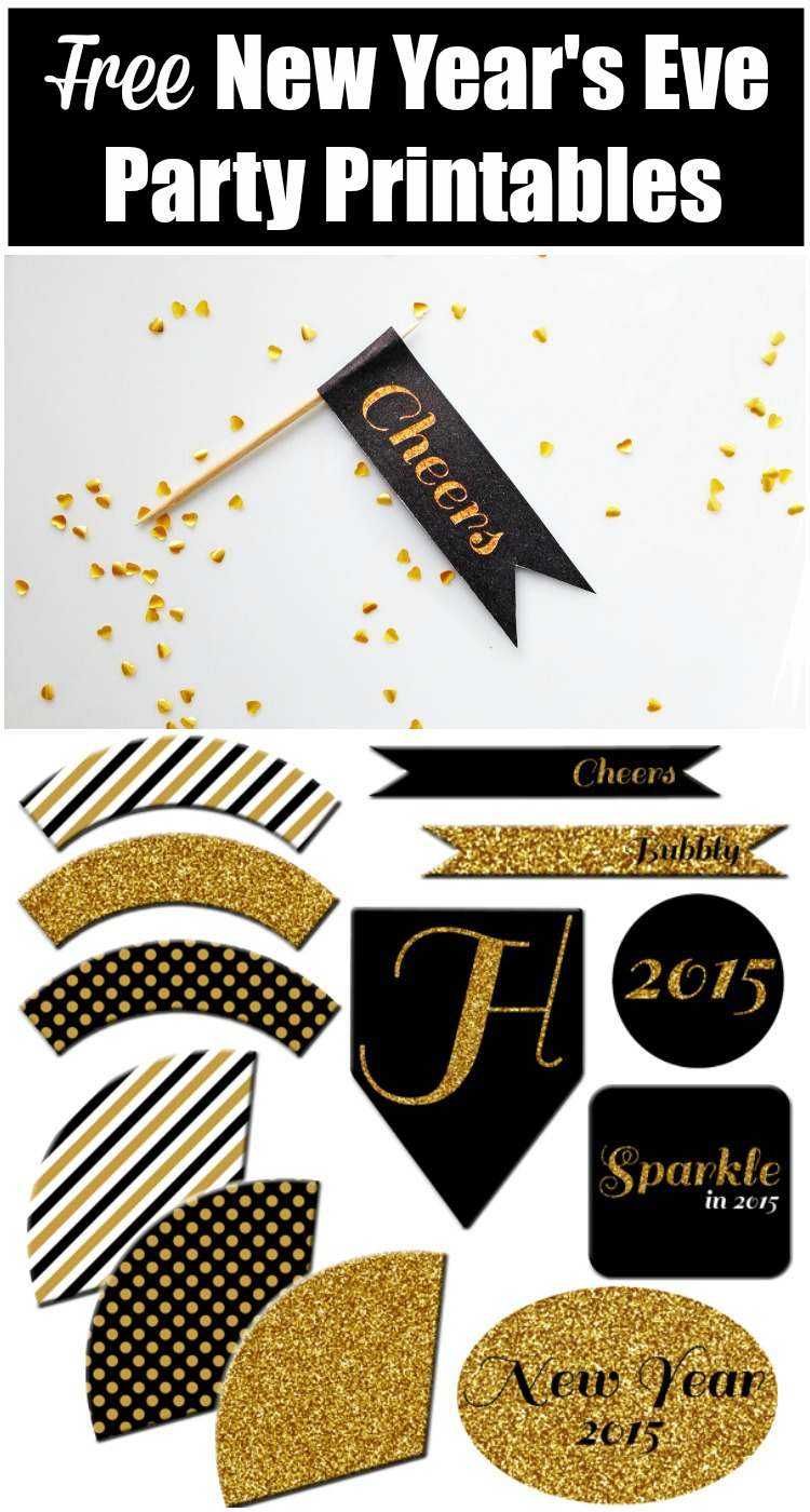 free new years eve party printables catchmypartycom pin it