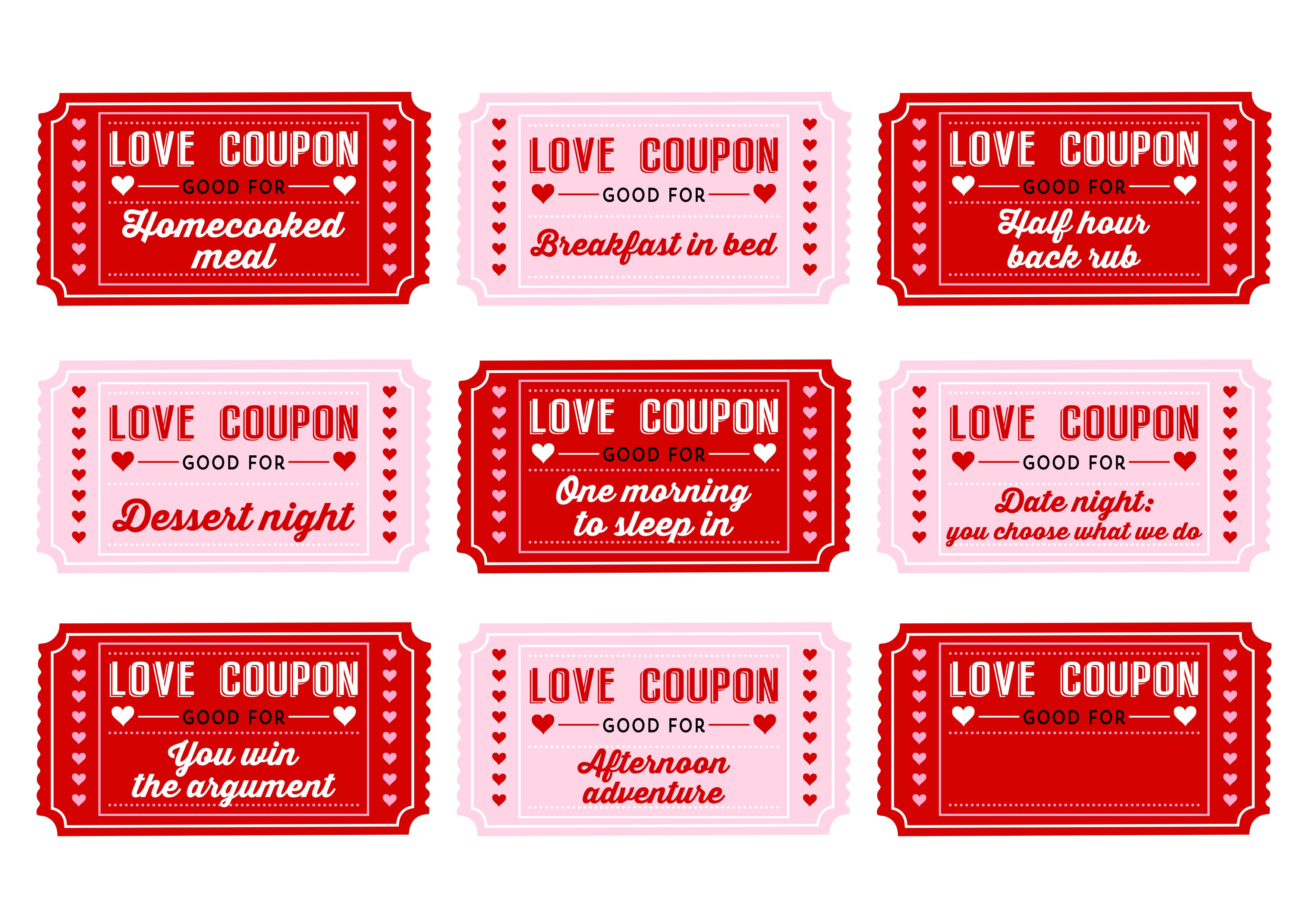 sex coupon template - free printable love coupons for couples on valentine 39 s day