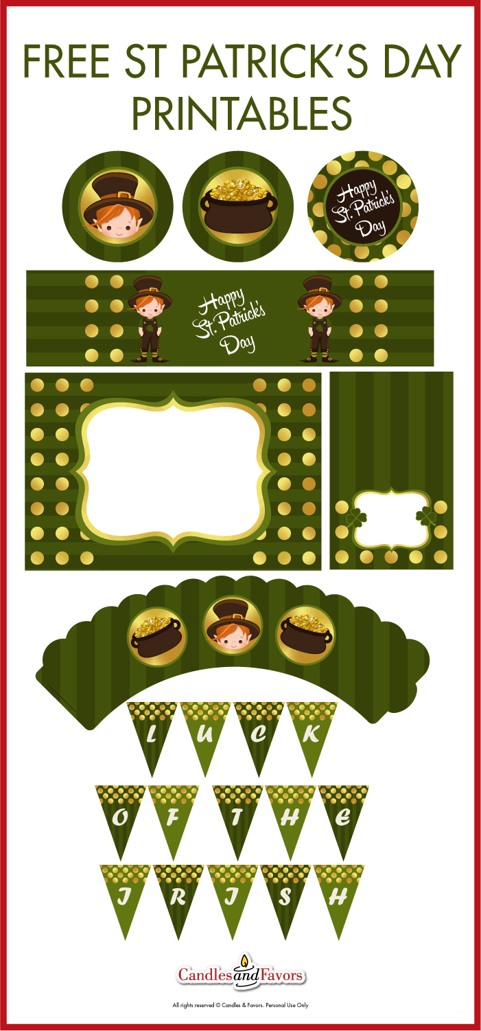 This is a picture of Current St Patrick Day Free Printables