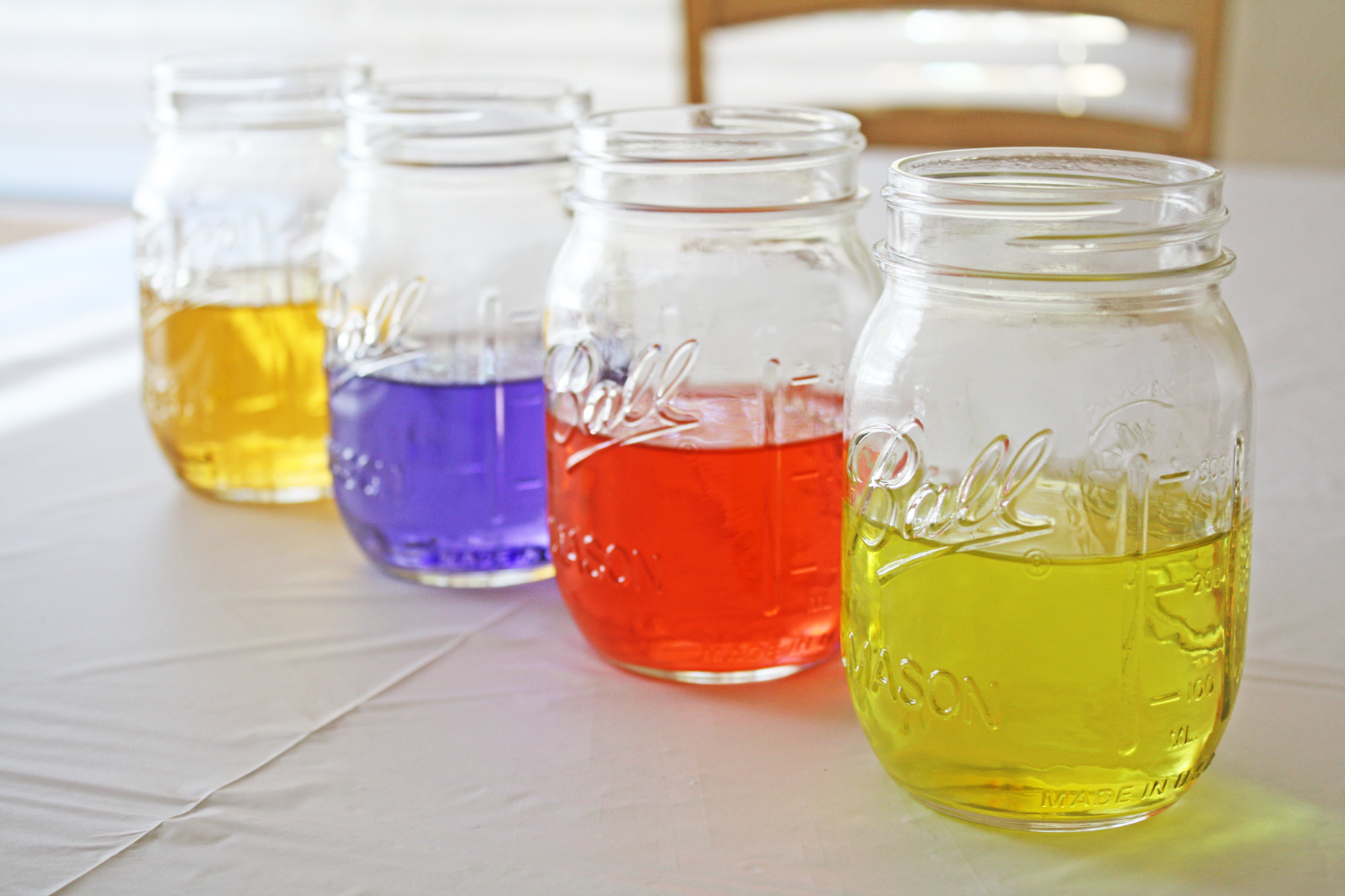 Colored Water Centerpiece DIY | Catch My Party