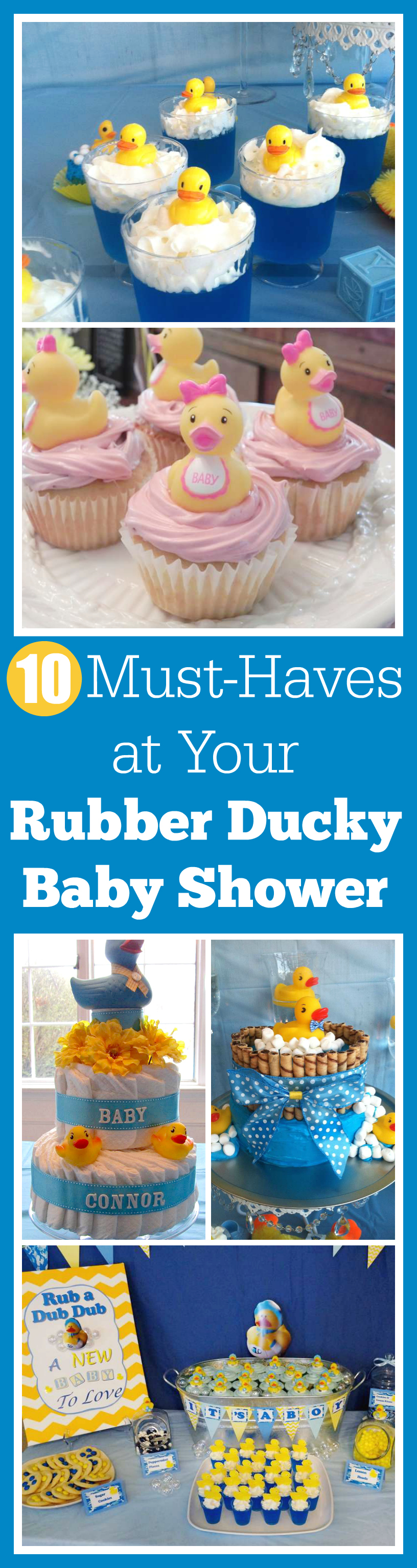 love rubber ducky baby showers because of all the sweetness the theme