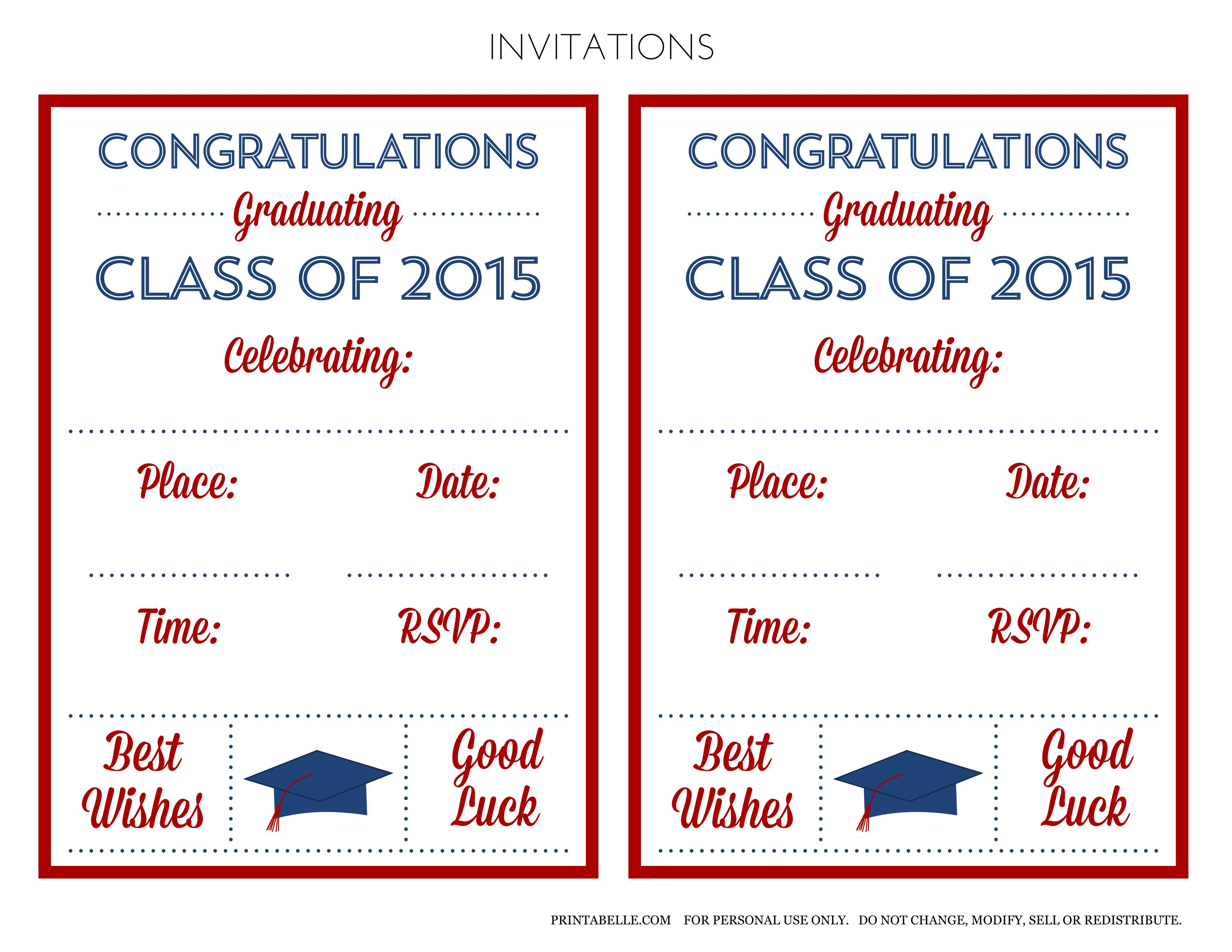 Free 2015 graduation printables catch my party download the free 2015 graduation printables here filmwisefo Images