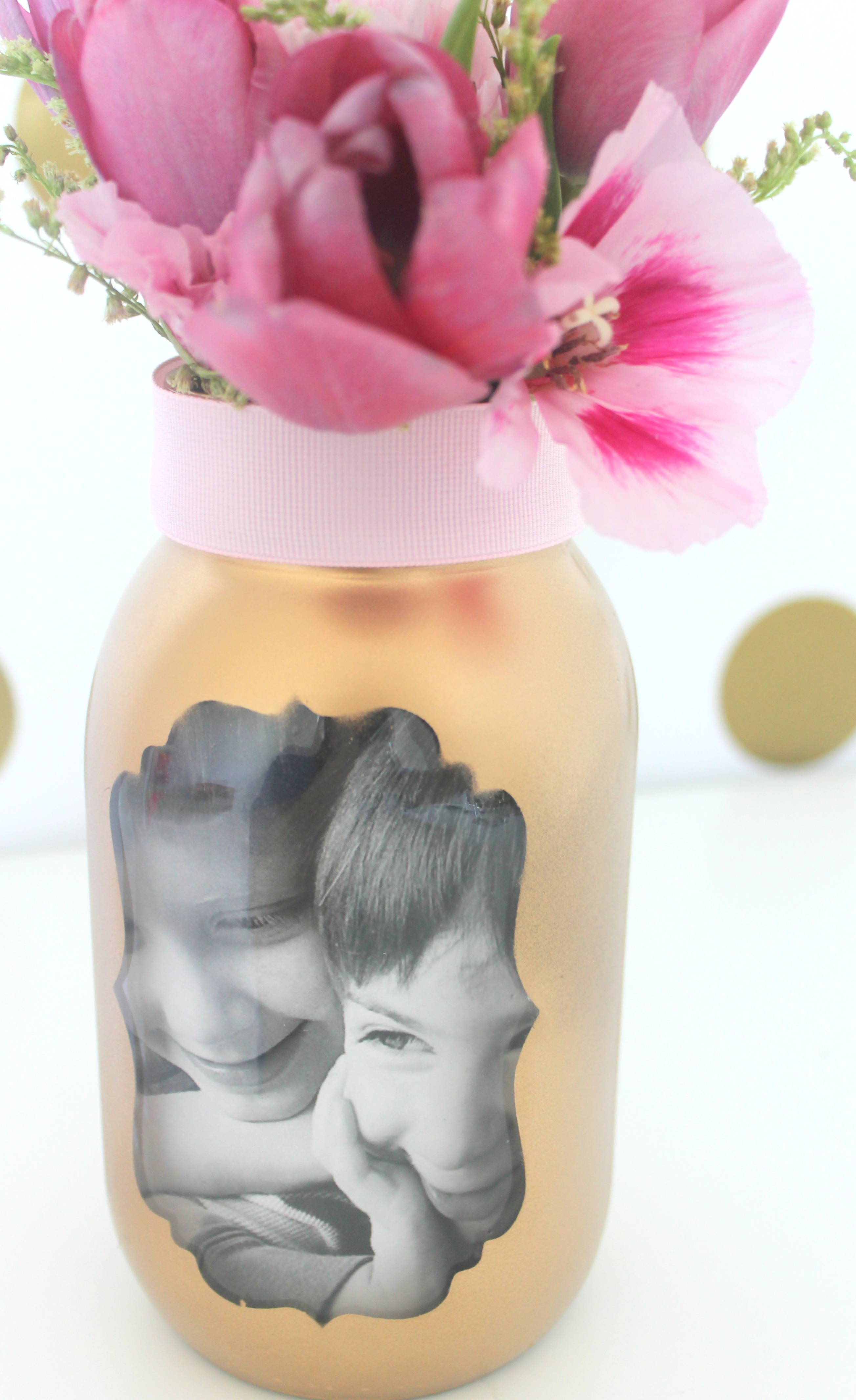 Easy Mother's Day Photo Vase Craft   Catch My Party